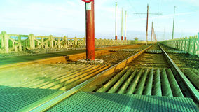 Tramrail Stock Foto