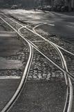 Tramroad à l'aube Images stock