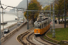 Trams in Budapest. Every day there are different divisions of the tram bring us all kinds of convenience.Trams has become an indispensable part of our life, it Stock Photography