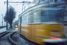 Trams in Budapest Stock Photos
