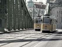 Trams in Budapest Royalty Free Stock Photos