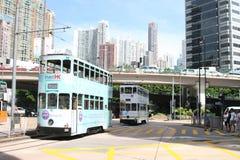 Trams de Hong Kong Images libres de droits
