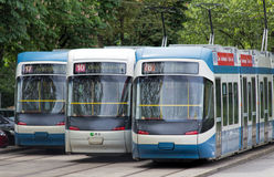 Trams de Zurich Photos libres de droits