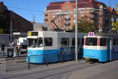 Trams in Gothenburg Stock Image