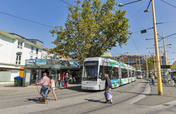 Trams on Jakominiplatz square in Graz, Austria. Royalty Free Stock Photography