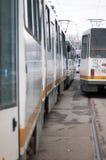 Trams jam Royalty Free Stock Image