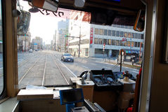 Trams in Japan Royalty Free Stock Photos