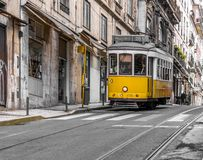 Trams in Lisbon Royalty Free Stock Images