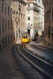 Trams in Lisbon. Yellow trams in Lisbon. Portugal Stock Photo