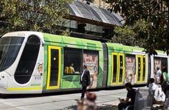 Trams in Melbourne Stock Photo