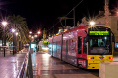 Trams at Moseley Square, Glenelg Stock Image