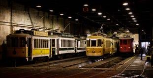 Trams in Porto Stock Image