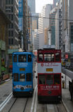 The Trams. Trams running in Hong Kong, the vertical city of the world Royalty Free Stock Image