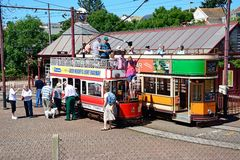 Trams at Seaton station. Royalty Free Stock Photography