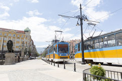 Trams in Sofia, Bulgaria Stock Images