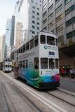Trams in the streets of Hong Kong Royalty Free Stock Photos