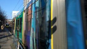 Traffic, people and trams on Spandauer Strasse, Berlin, Germany stock video