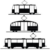 Trams and trolleybuses vector Stock Photo