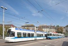 Trams in Zürich Stock Foto's
