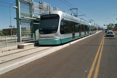 Tramspoor Stock Foto's