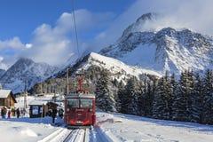 Tramspoor du Mont Blanc Royalty-vrije Stock Foto's