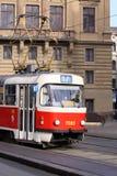 Tramspoor in Praag Royalty-vrije Stock Foto's