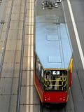 Tramspoor in Warshau Stock Afbeeldingen