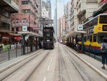 Tramsporen Stock Foto's