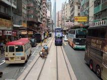 Tramsporen Stock Afbeeldingen
