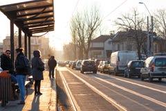 Tramstation Stockfotografie