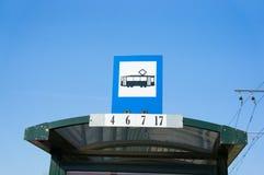 Tramstoppschild Lizenzfreie Stockfotos