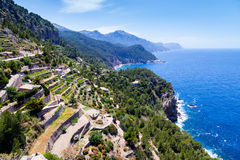 Tramuntana bergskedja, Majorca Royaltyfria Bilder