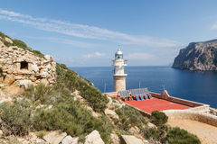 Tramuntana lighthouse Royalty Free Stock Photo