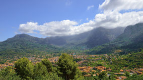 Tramuntana mountain range. Mallorca, Balearic islands, Spain in July. Stock Images