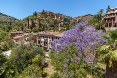 Tramuntana mountain, Village in Mallorca. View of typical stone village in Majorca, Balearic island, Spain Stock Photography