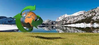 Tramuntana mountains and environmental symbol Stock Images