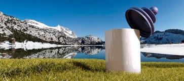 Tramuntana mountains and jar Royalty Free Stock Image