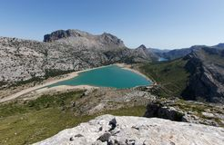 Tramuntana Unesco world heritege are water reservoir. Tramuntana mountains water reservoir of Cuber, in the spanish island of Majorca. Unesco world heritege Royalty Free Stock Images