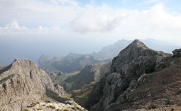 The Tramuntana Range from the Puig Major, Mallorca, Spain Royalty Free Stock Photos