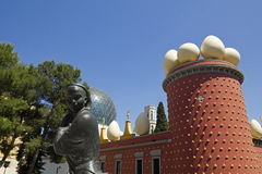 Tramuntana statue and Dali Museum. Figueres Stock Photos