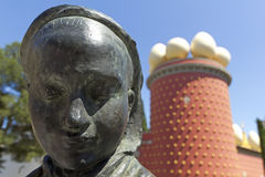 Tramuntana statue and Dali Museum. Figueres Stock Photo