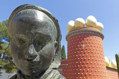 Tramuntana statue and Dali Museum. Figueres Stock Images
