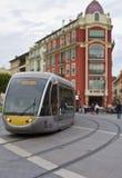 Tramwaj, Ładny, Francja Zdjęcie Stock