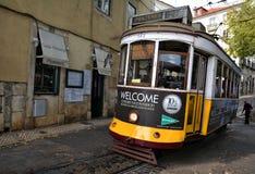 Tramwaj liczba 28 w Lisbon Zdjęcie Stock