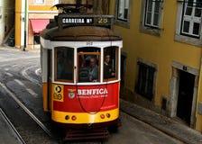 Tramwaj liczba 28 w Lisbon Obraz Stock