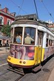 Tramwaj linia 28 w Lisbon Portugalia Zdjęcia Royalty Free