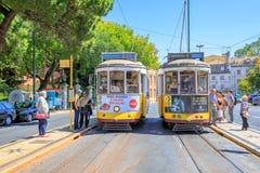 Tramwaj 28 Lisbon Zdjęcie Stock