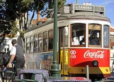 28 tramwaj Lisbon Fotografia Royalty Free
