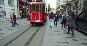 Tramwaj na istiklal ulicie, beyoglu Istanbuł zbiory