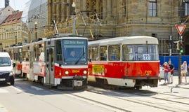 Tramwaj, Praga, republika czech Obraz Royalty Free